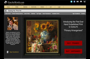 Fine Art Community Website Example Quang Ho