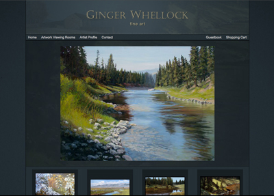 Fine Art Website Example - Artist Ginger Whellock