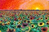 Sunflower Splatter Paint by Brad Gorman